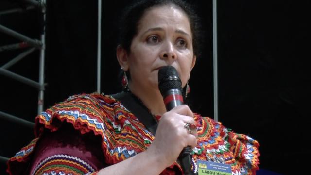 Houria Labou, présidente de l'association Idlès